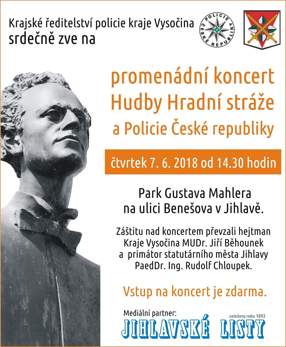KONCERT HUDBY HRADNÍ STRÁŽE A POLICIE ČESKÉ REPUBLIKY V JIHLAVĚ